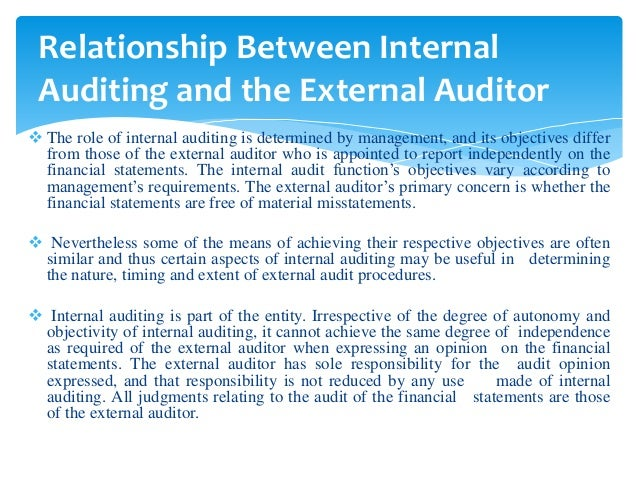 relationship between external auditor and auditee means