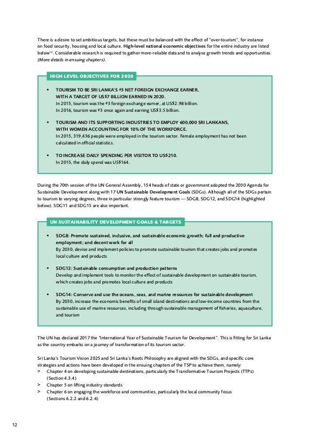 SRI LANKA | Tourism strategic plan and action 2017 - 2020