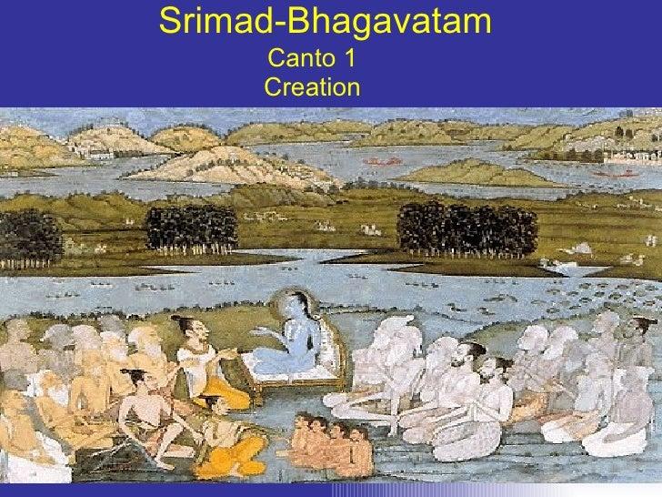Srimad-Bhagavatam Canto 1 Creation