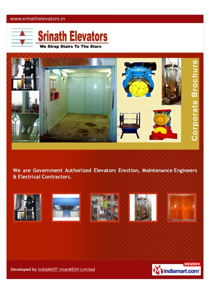 GOVERNMENT AUTHORIZED ELEVATORS ERECTION, MAINTENANCE ENGINEERSAND ELECTRICAL CONTRACTORS.