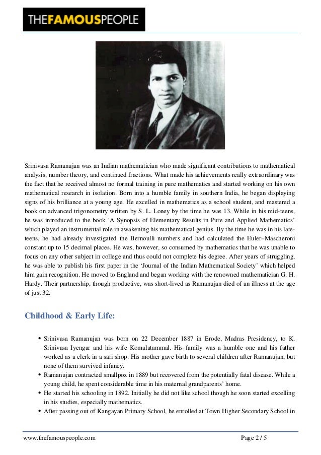 10 Things to Know about Srinivasa Ramanujan, the Genius Who Continues to Amaze the World