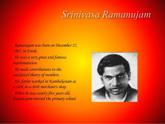 ak ramanujan Poems by ak ramanujan a native of mysore, india, attipat krishnaswami ramanujan grew up during the latter part of english rule in india, exposing him to the languages that would form his life's work as a poet and translato.