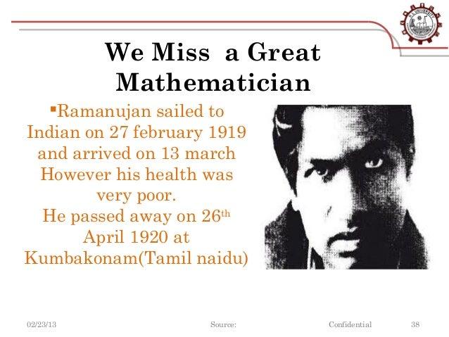 essay on indian mathematician ramanujan