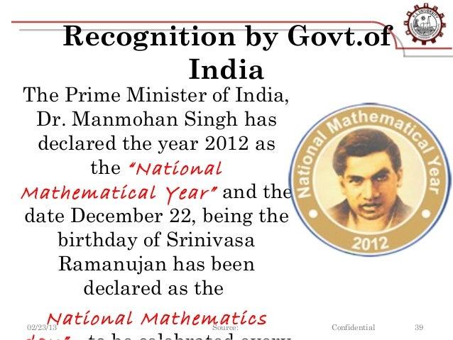 Essay on life history of srinivasa ramanujan