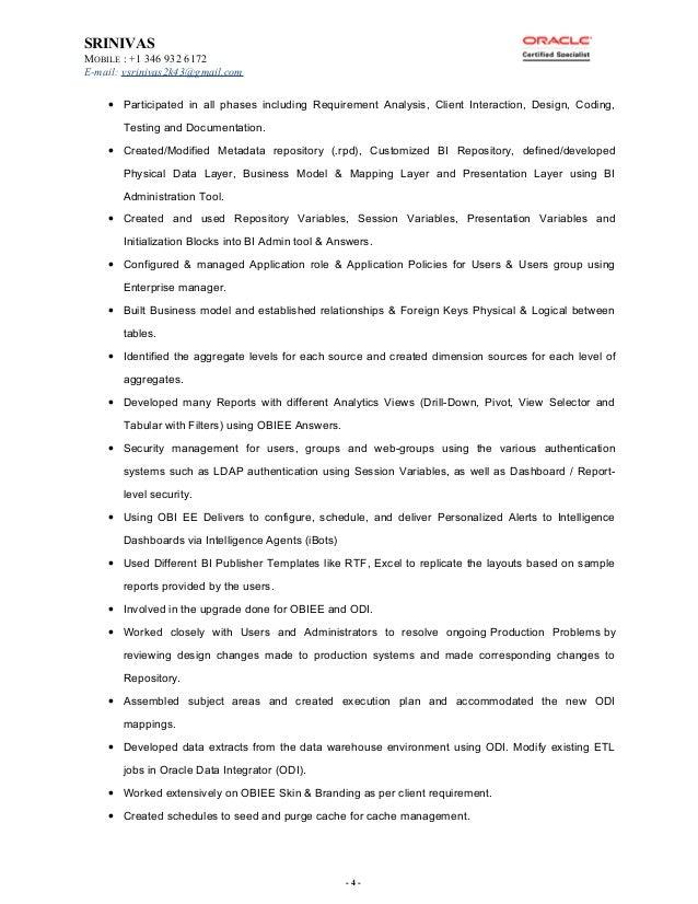 Srinivas BI Consultant Profile