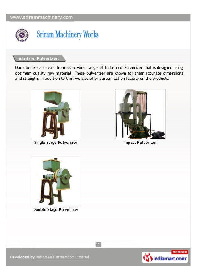 Sriram Machinery Works, Rajapalaiyam, Industrial Equipment Slide 3