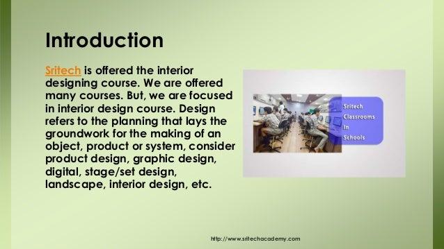Internship In Interior Designing Sritech Academy 2