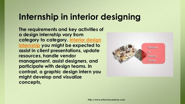 Introduction Sritechacademy 3 The Requirements And Key Activities Of A Design Internship