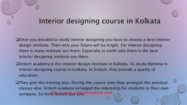 interior designing course in kolkata sritech academy