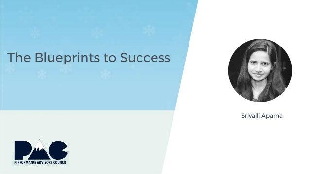 The Blueprints to Success Srivalli Aparna