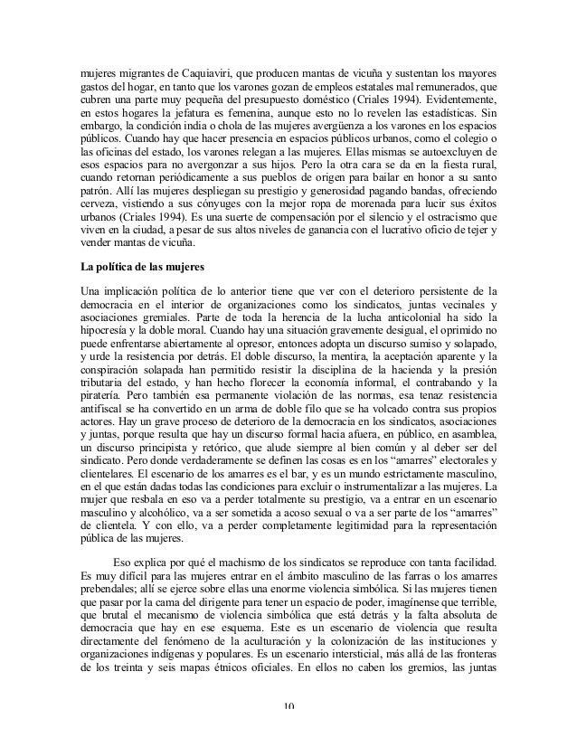 mujeres migrantes de Caquiaviri, que producen mantas de vicuña y sustentan los mayores gastos del hogar, en tanto que los ...