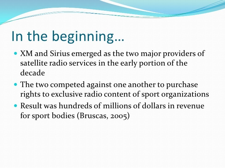 sirius xm merger case study