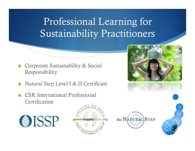 Professional Environmental Sustainability Or Natural Resource Conservation