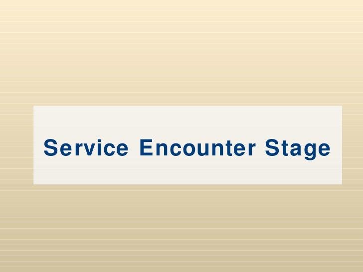 Service encounter diary