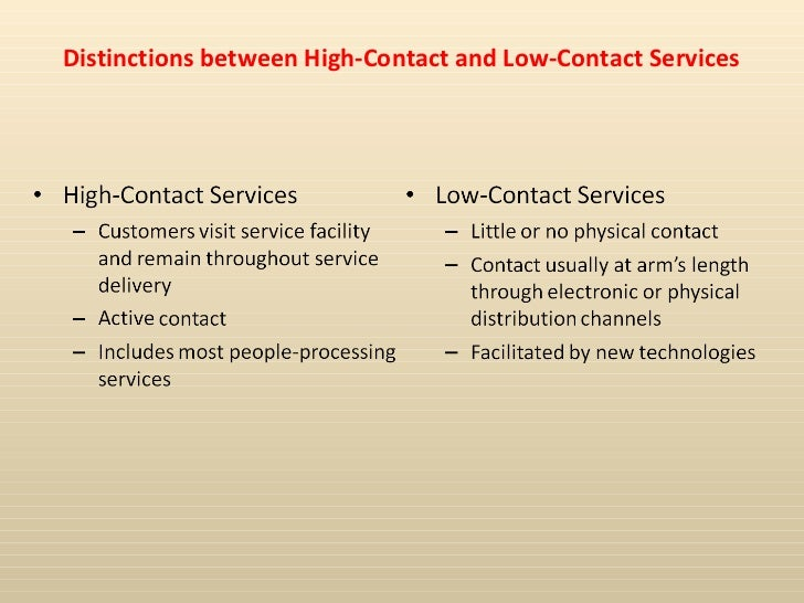 high contact service examples