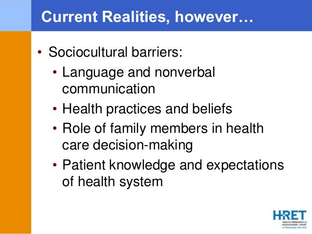 Barriers and Disparities in Health Care - Research Paper Example