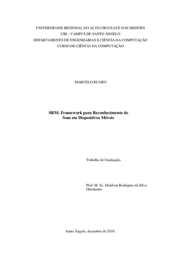 UNIVERSIDADE REGIONAL DO ALTO URUGUAI E DAS MISSÕES            URI – CAMPUS DE SANTO ÂNGELODEPARTAMENTO DE ENGENHARIAS E C...