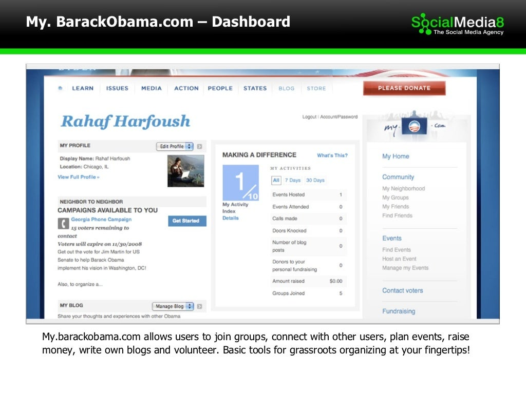 My.barackobama.com allows users to join