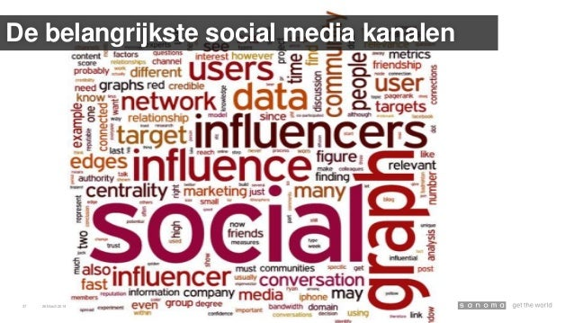 26March 2014 Social Publishing en Influencers – SRM masterclass37 De belangrijkste social media kanalen