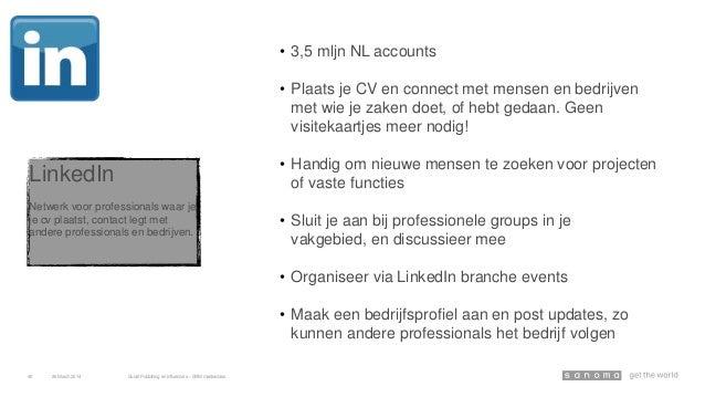 LinkedIn Netwerk voor professionals waar je je cv plaatst, contact legt met andere professionals en bedrijven. • 3,5 mljn ...