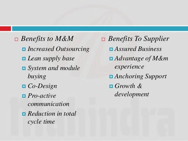 Supplier Satisfaction Survey:   This survey was done with a great enthusiasm.   In this M&M was being rated and evalua...