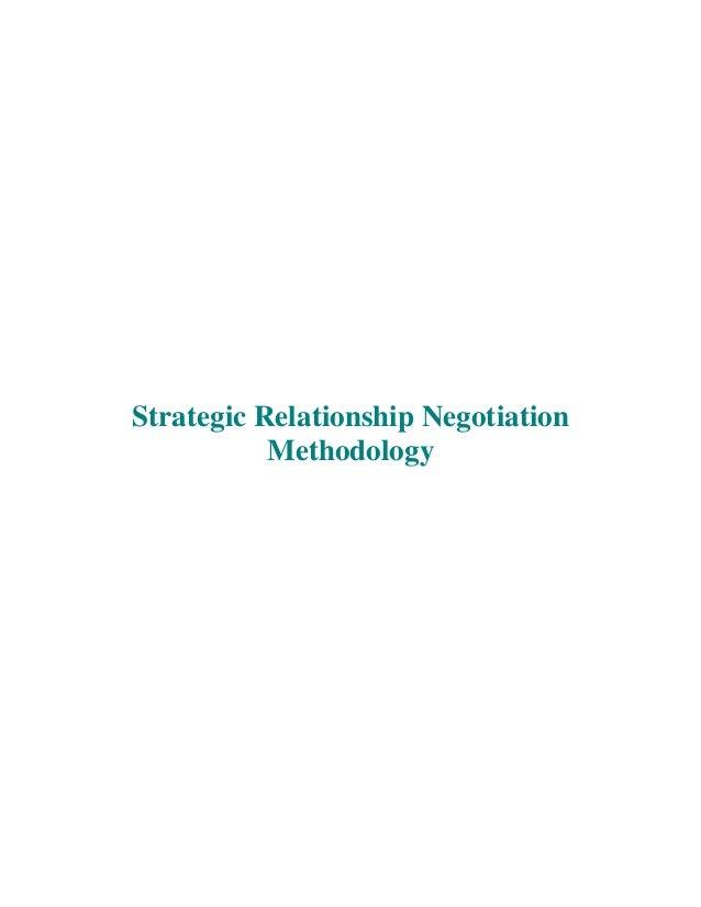 Strategic Relationship Negotiation Methodology