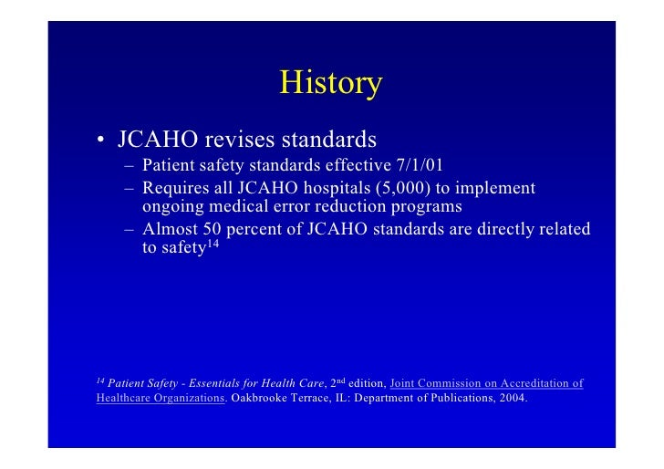 JCI accreditation or Joint Commission International | Medego™ |Patient Safety Standards Jcaho Policies