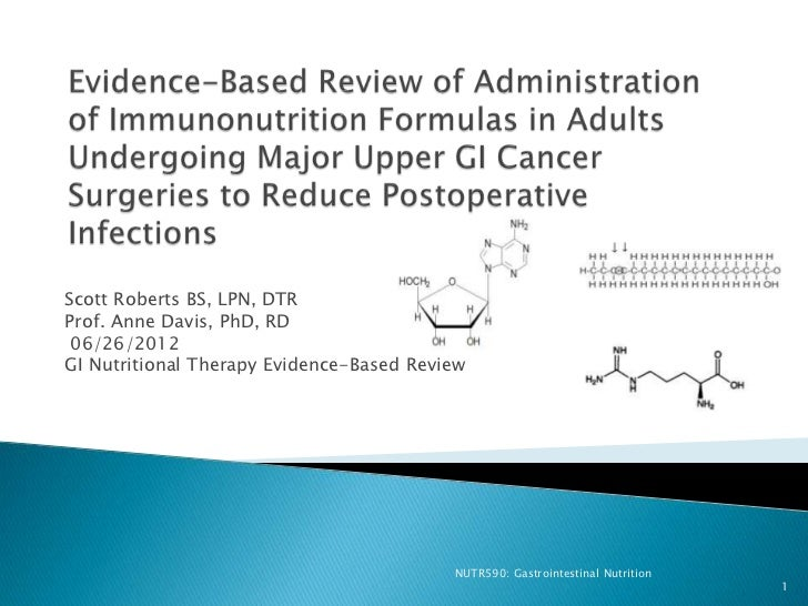 Scott Roberts BS, LPN, DTRProf. Anne Davis, PhD, RD 06/26/2012GI Nutritional Therapy Evidence-Based Review                ...