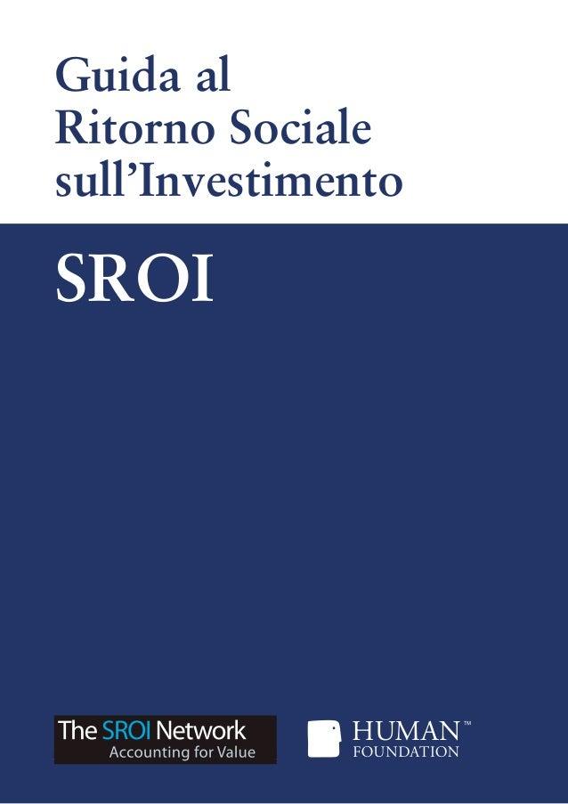 Guida al Ritorno Sociale sull'Investimento SROI