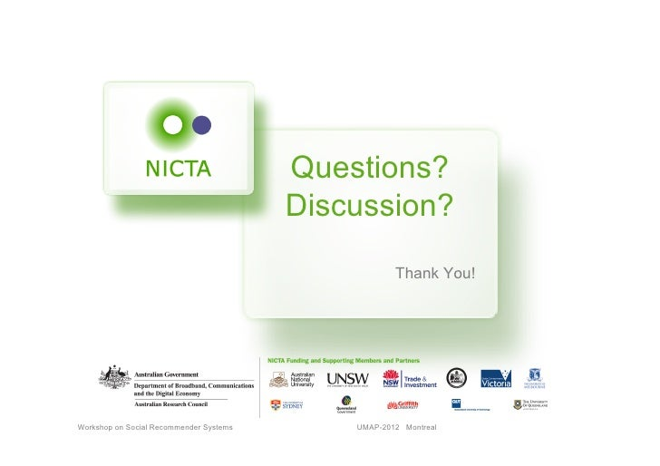 Questions?                                         Discussion?                                                     Thank Y...