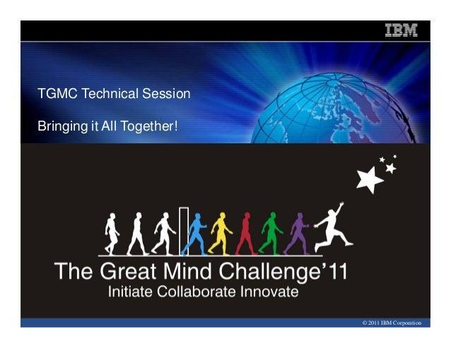 Information Management SoftwareInformation Management SoftwareTGMC Technical SessionBringing it All Together!   ·Click to ...