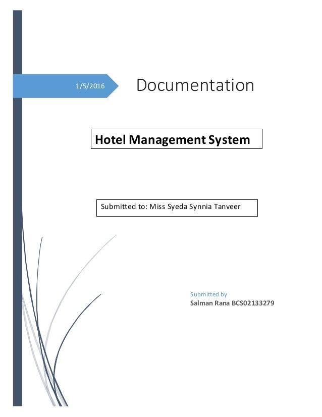 Documentation Hotel Management System