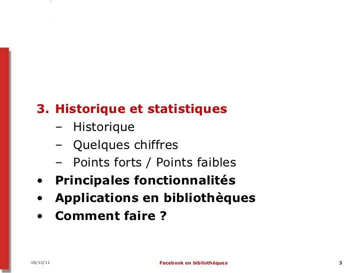 Facebook en bibliothèque Slide 3
