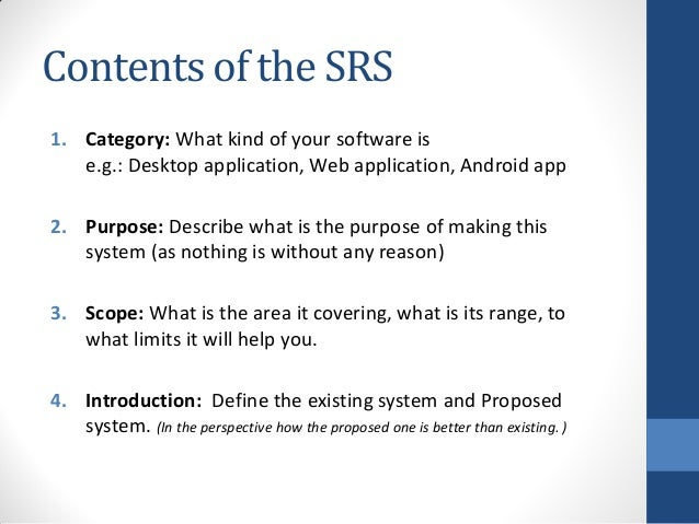 What Is Srs >> How To Make Srs