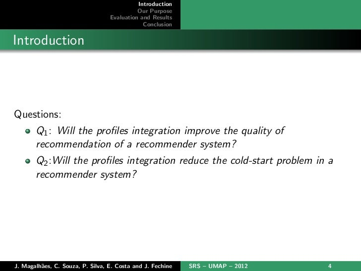 Introduction                                            Our Purpose                                  Evaluation and Result...