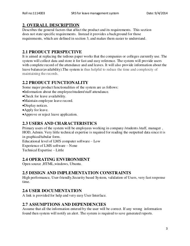 System Specification Document Template  ApigramCom