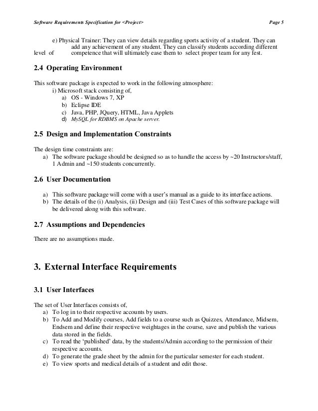 srs of student academic progress management Srs document of course management system based on ieee standard   srs document of course management software systemdoc  student homework submission.
