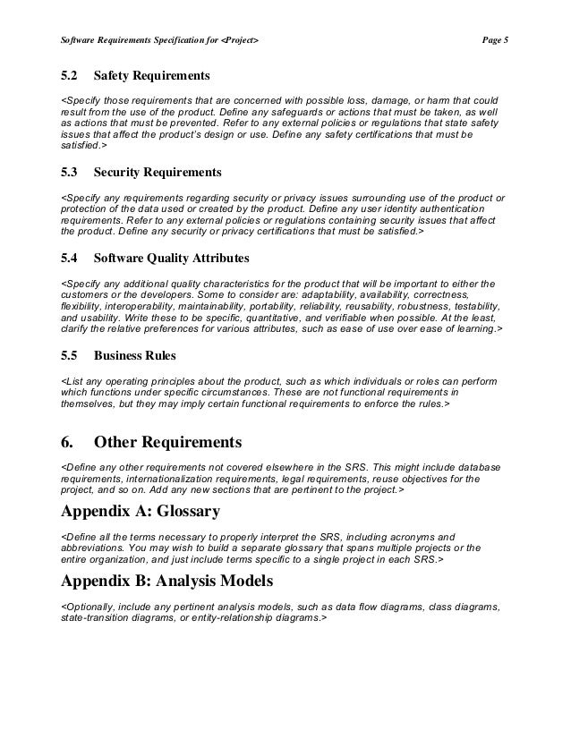 Srs template 1 – Mortgage Document Template