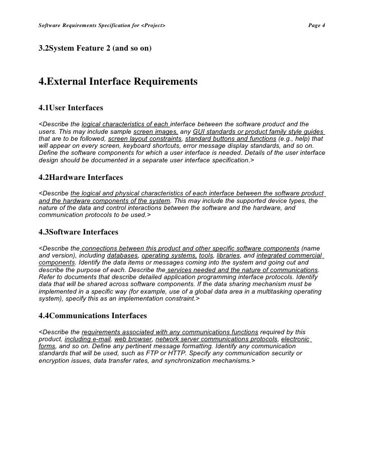 srs project Software requirements specification amazing lunch indicator this section gives a scope description and overview of everything included in this srs document.