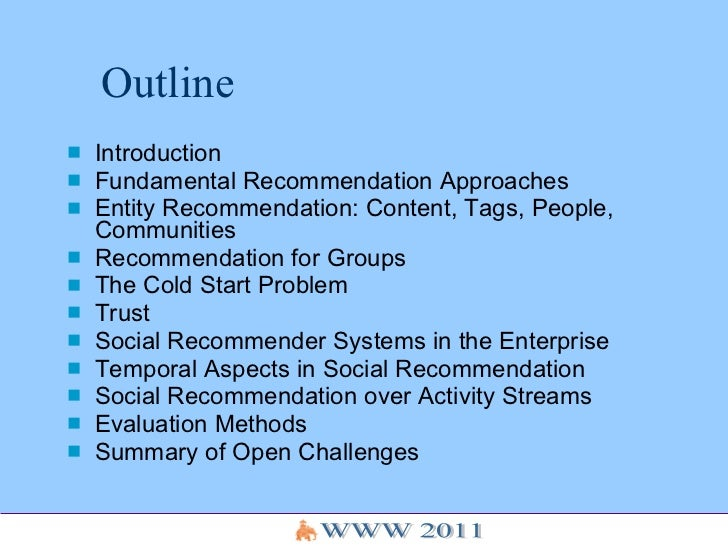 Social Recommender Systems Tutorial - WWW 2011 Slide 2