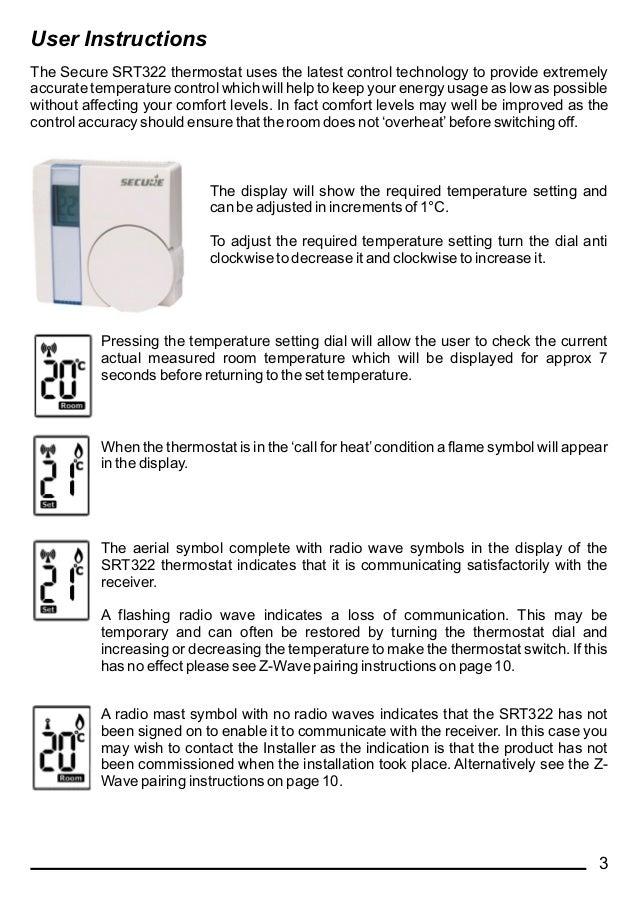 Secure SRT322_User__Installation_instructions