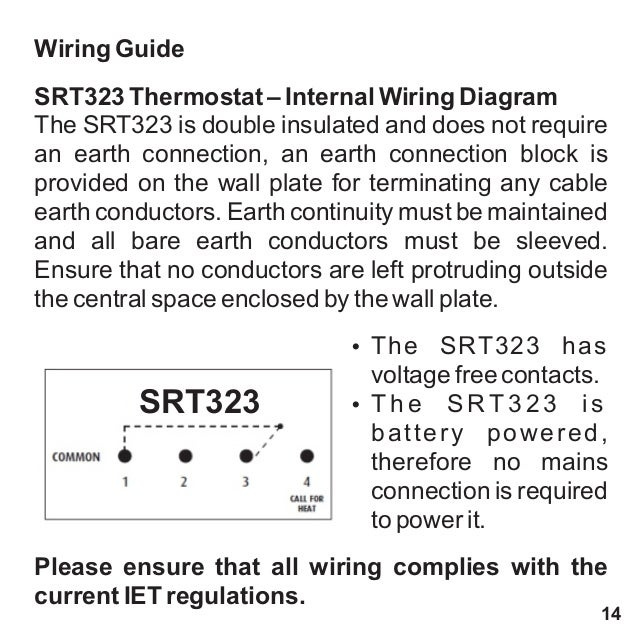 Srt323 user amp installation 1 wiring guide srt323 thermostat internal wiring diagram cheapraybanclubmaster Gallery