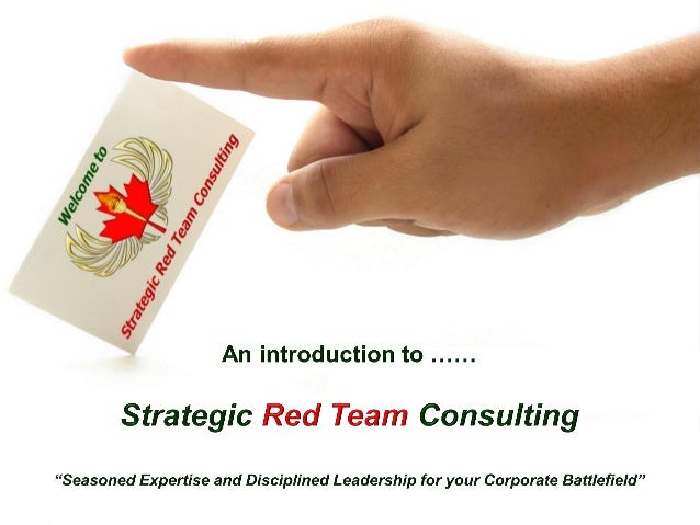 © Strategic Red Team Consulting All Rights Reserved  1