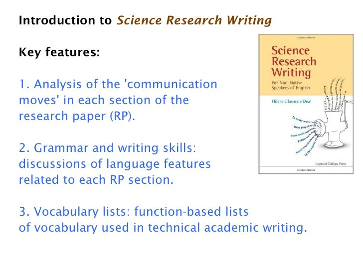 Introduction to  Science Research Writing  and how it compares to  Ac    Abstracts and the Writing of Abstracts