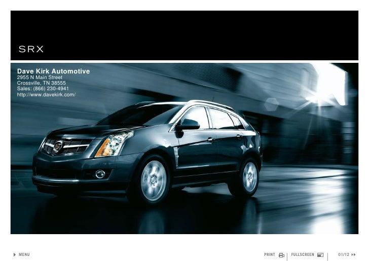 2011 Cadillac SRX Crossover – Dave Kirk Automotive Crossville, TN