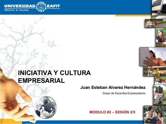 INICIATIVA Y CULTURAEMPRESARIAL                 Juan Esteban Alvarez Hernández                           Grupo de Docentes...