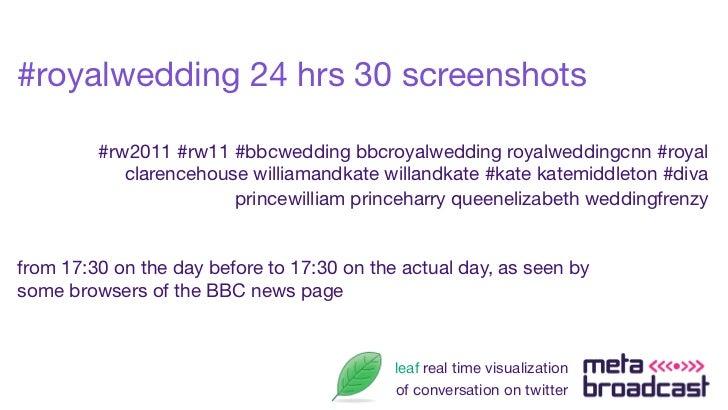 #royalwedding 24 hrs 30 screenshots         #rw2011 #rw11 #bbcwedding bbcroyalwedding royalweddingcnn #royal            cl...