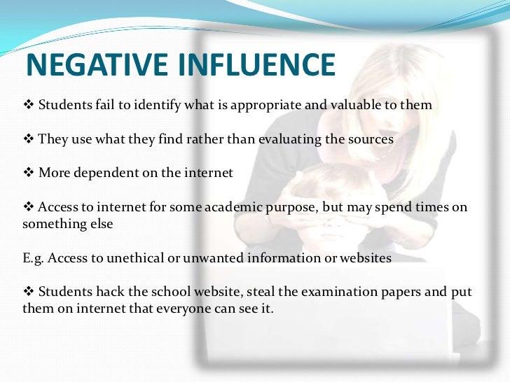 influence of internet essay
