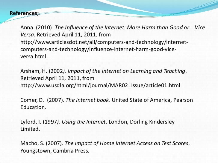 """influence of internet on children The influence of the internet on our younger generation  the author of the article says that the big negative effect of the internet is that """"children sometimes ."""