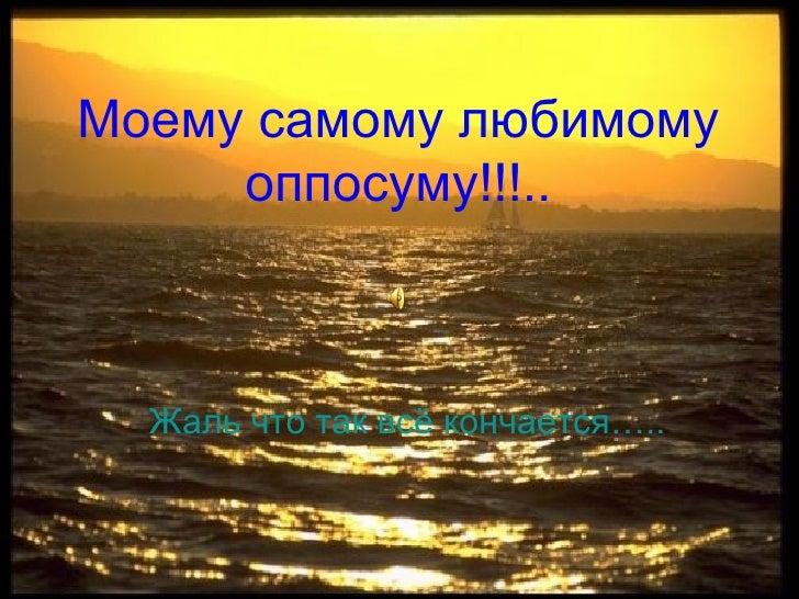 Моему самому любимому оппосуму!!!.. <ul><li>Жаль что так всё кончается….. </li></ul>